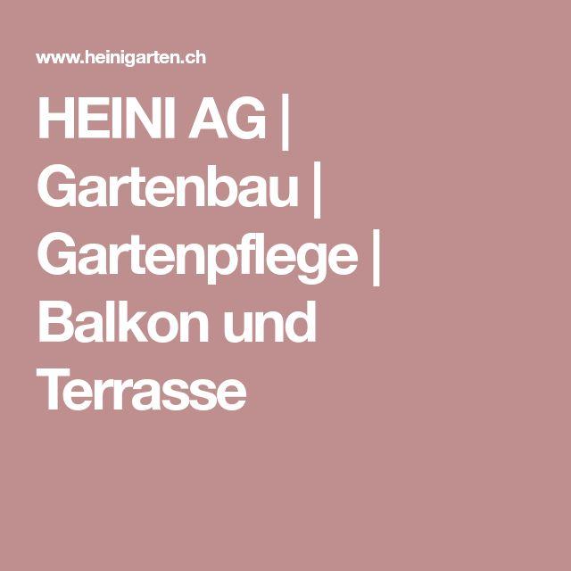 HEINI AG | Gartenbau | Gartenpflege | Balkon und Terrasse