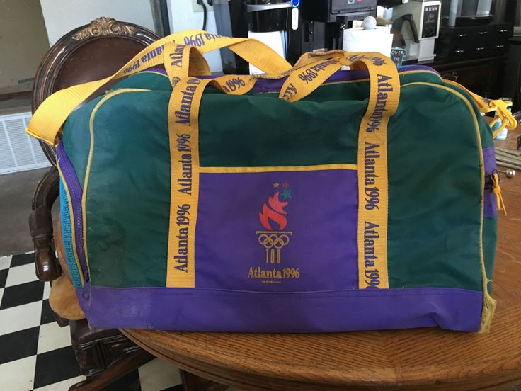 Vintage 1996 Olympics Gym Bag Atlanta.