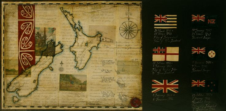 Title: A country Flagged Size: 30cm x 60cm Medium: water colour, ink, shellac, paper on board Date: 2006