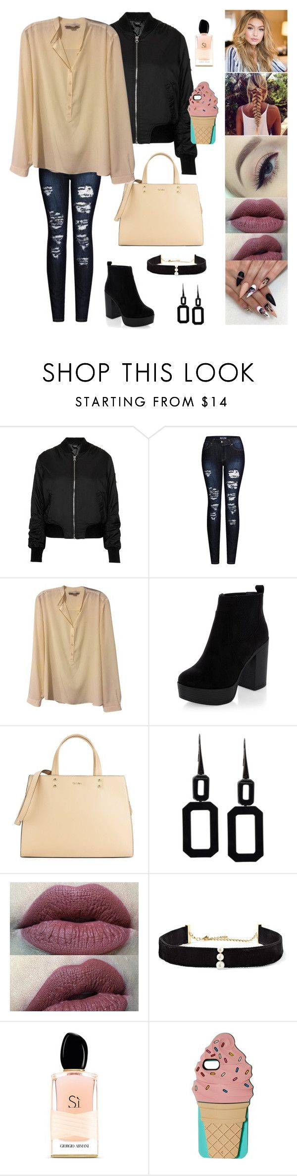 """Dark Angel Tome 2 Chapter 42"" by hissexylips ❤ liked on Polyvore featuring Topshop, 2LUV, STELLA McCARTNEY, New Look, Calvin Klein, Rebecca, Anissa Kermiche, Armani Beauty and Kate Spade"