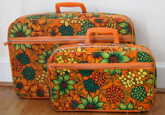 Bantam Travelware Floral Childrens Suitcase by ChippedGREENchair, $40.00. I had a set of three similar to these. They were a handy.