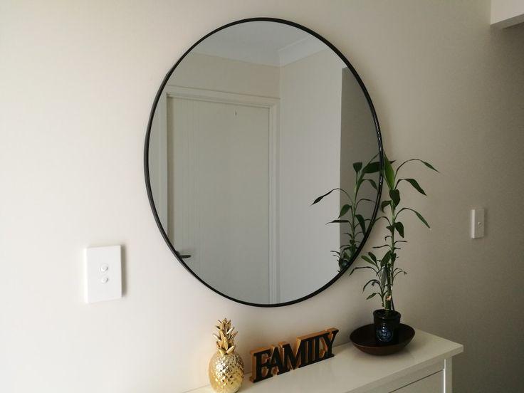 Hallway Decor Large Round Mirror From Kmart Home Decor