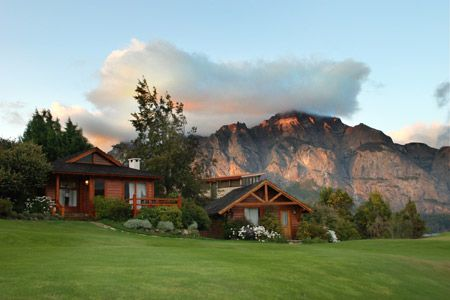 Incredible mountain views from the Llao Llao Hotel and Resort in Bariloche, Argentina