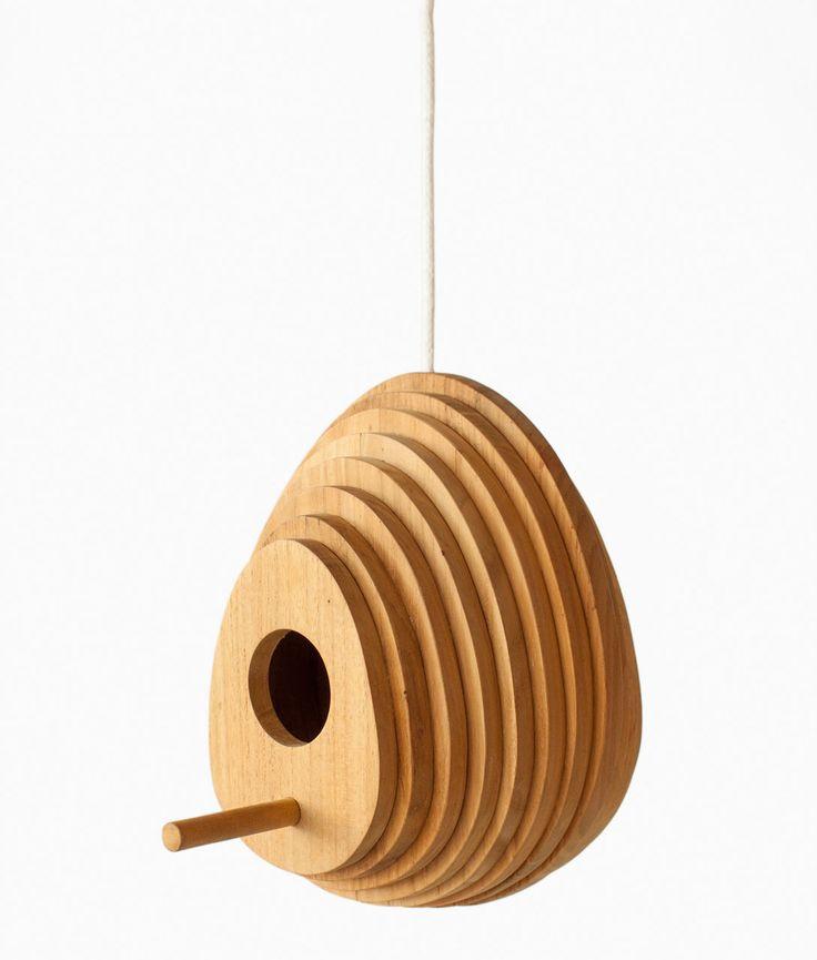 Tree Ring Birdhouse by Jarrod Lim for Hinika - La Mansión del pájaro