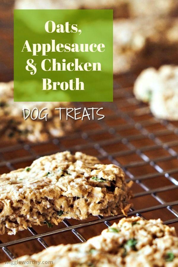 Oats Applesauce Chicken Dog Treats Recipe Homemade Dog