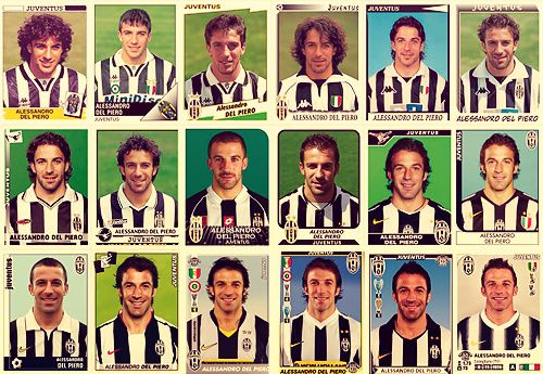AscpE7CCIAAyrYh Panini stickers through the years: Alessandro Del Piero & Javier Zanetti
