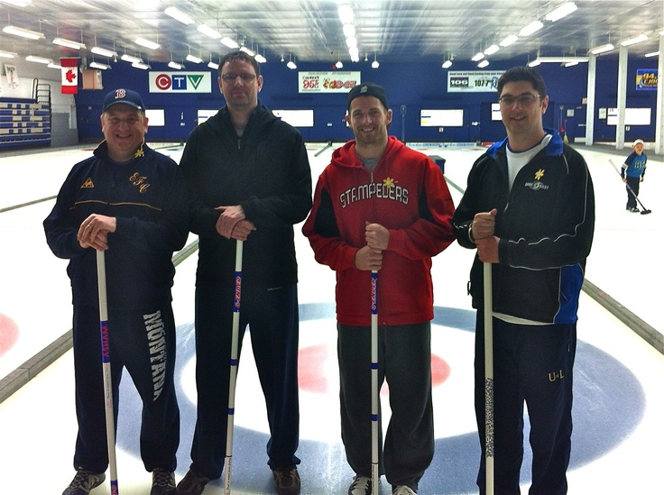 Curling with Eric Fraser from the Calgary Stampeders