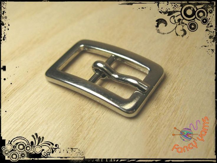 Buckles & Clasps – 2 double metal buckles, silver-colored, 10 mm. – a unique…