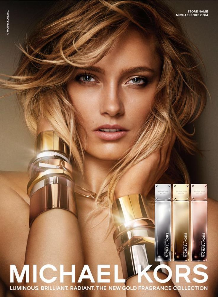 Karmen Pedaru is a Golden Beauty in Michael Kors Fragrance Ad by Mario Testino