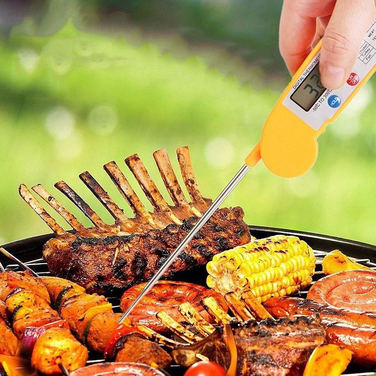 Foldable Digital Instant Read Food Probe Cooking Meat Kitchen BBQ Thermometer Kitchen Cooking Tools