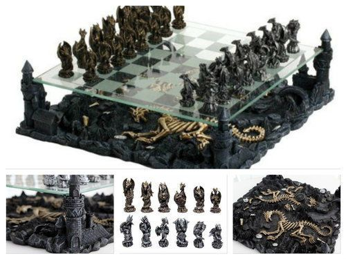 Theme-Chess-Set-Glass-3D-Dragon-Game-Board-Themed-Gift-Unique-Carved-Pieces-Art