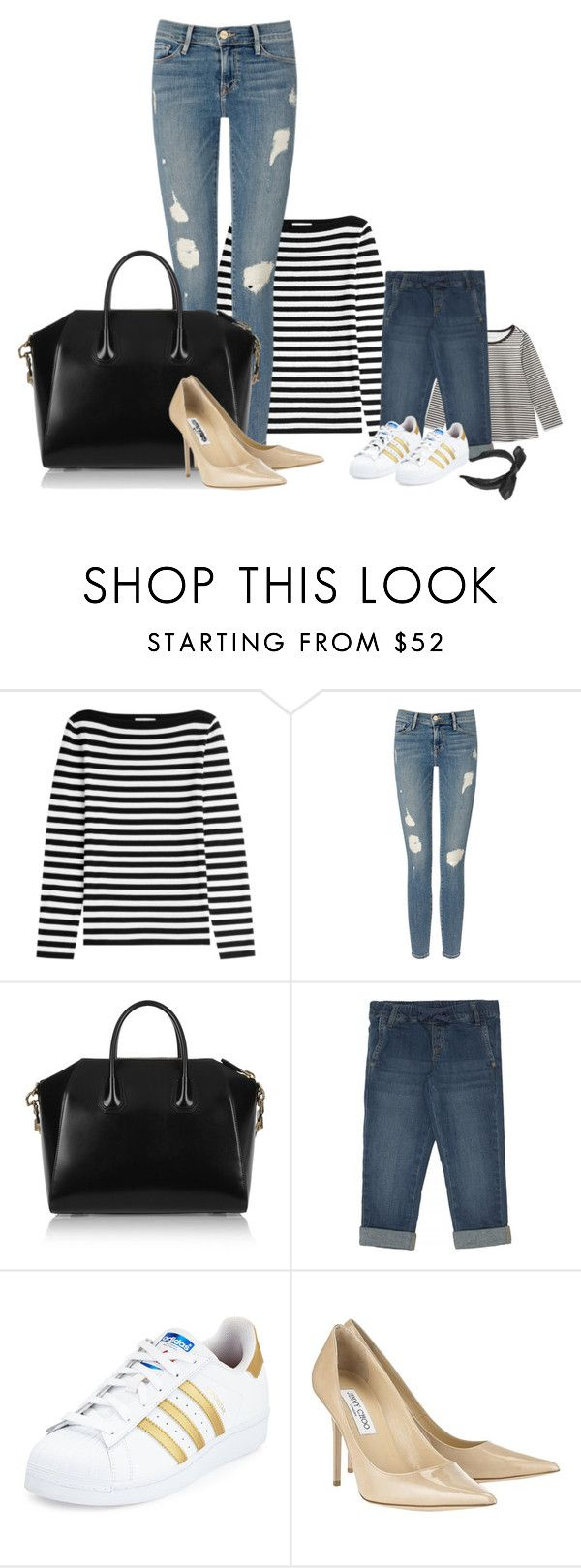 """today's look"" by maja-el-aly ❤ liked on Polyvore featuring Michael Kors, Frame Denim, Givenchy, adidas, Jimmy Choo and Maison Michel"