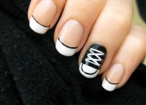 YES!: Idea, Shoe Nail, Style, Nailart, Nail Designs, Makeup, Conversenails, Converse Nails, Nail Art