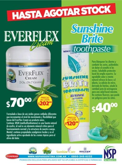 Everflex andvtooth paste