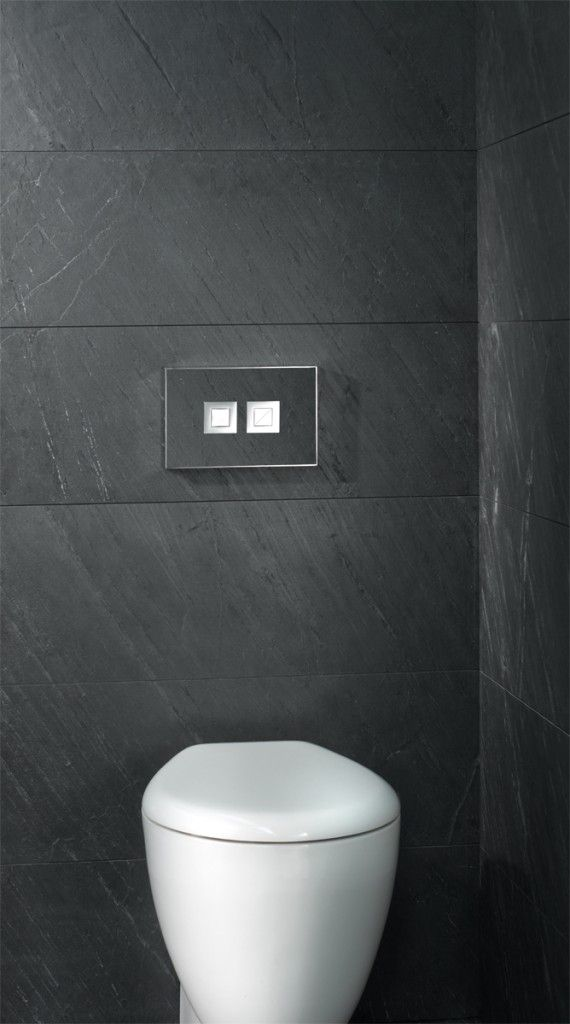 Valsir Stone push plate for concealed flushing cisterns. Complete your stone themed bathroom look with one of these plates.