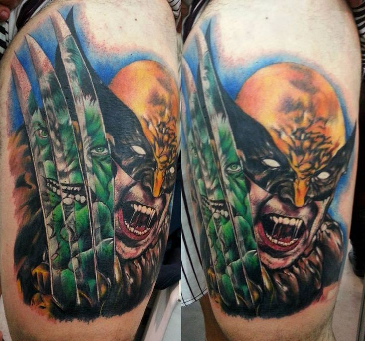 wolverine tattoo by clayton dias xmen tattoos inked superhero tattoos pinterest. Black Bedroom Furniture Sets. Home Design Ideas