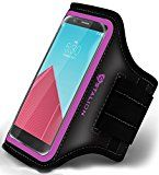 "Stalion Sports Exercise Gym Running Armband Case Universal for ALL Smartphones LG Sony HTC Nokia Huawei ZTE Google Nexus Motorola Blackberry Asus BLU Samsung (4.7-5.5"" Inch Display)(Fuchsia Pink)"