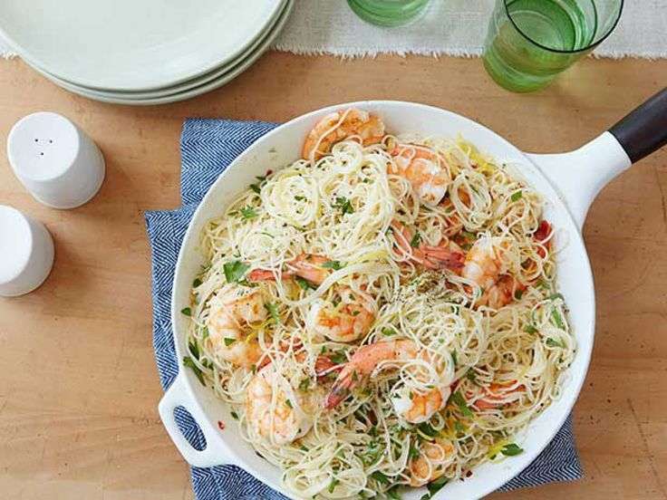 Gina's Shrimp Scampi with Angel Hair Pasta recipe from Patrick and Gina Neely via Food Network