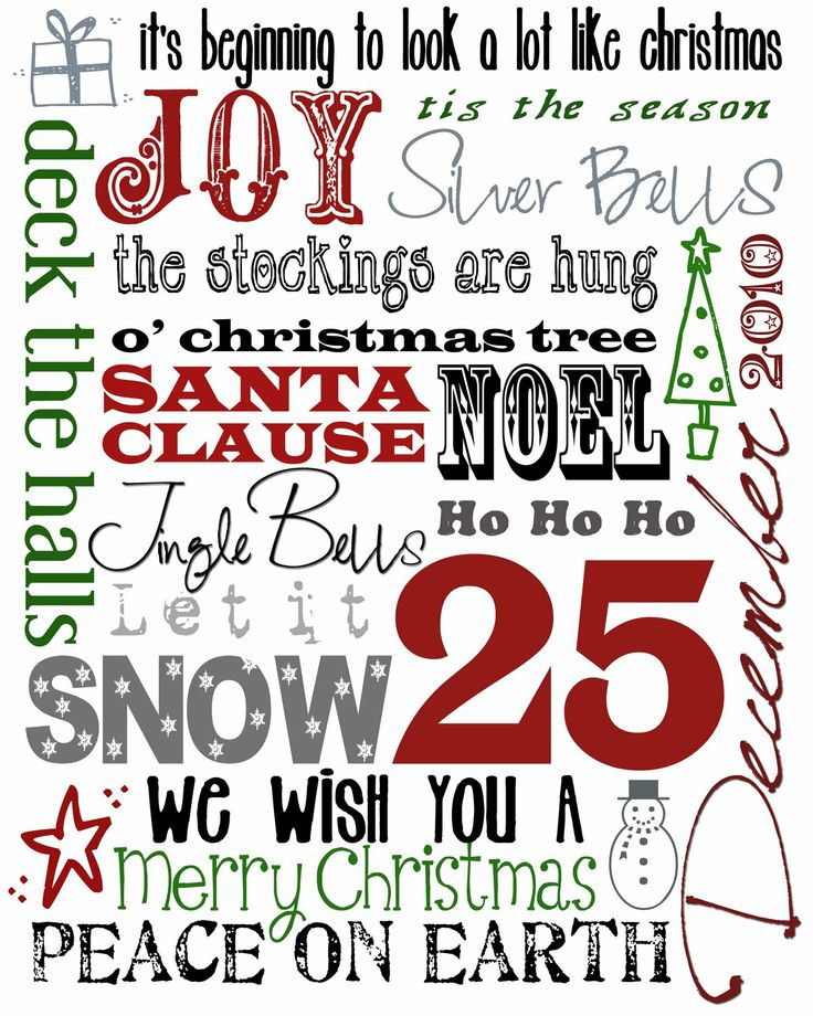 Christmas subway art - Free Printable