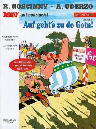 Asterix y los godos, en Bayrisch (dialecto alemán)