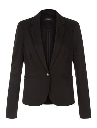 Black Jersey Blazer   New Look