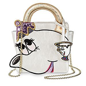 Mrs. Potts and Chip Crossbody Bag by Danielle Nicole | Disney Store Mrs. Potts and little Chip play host to this charming bag by Danielle Nicole. Inspired by the two <i>Beauty and the Beast</i> characters, the faux leather crossbody design features as iridescent sheen and golden metal chainlink strap.