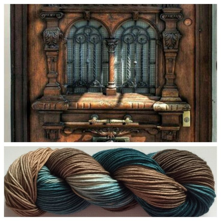 ANTIQUE ~ Truth...I really REALLY like these skeins and debated about selling them. These colors together look so gorgeous.  Colors: dark greenish teal, brown with little black (I use only professional grade dyes)  Yards: +\- 232  Weight: DK, 4- ply  Fiber: 100% superwash merino  Care instructions: This can be machine washed. To make finished items keep their vibrant colors, hand wash. Lay flat and shape to dry. #yarnbaby