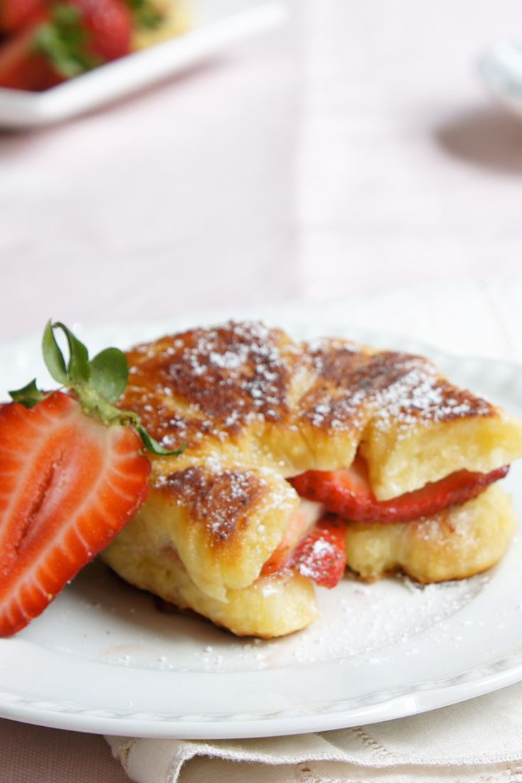 Kick your Chrissy morning off to a delicious start with this delicious Strawberry Croissant French Toast by AngelDust.