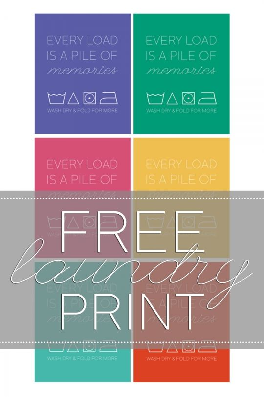 Free Printable for the Laundry Room