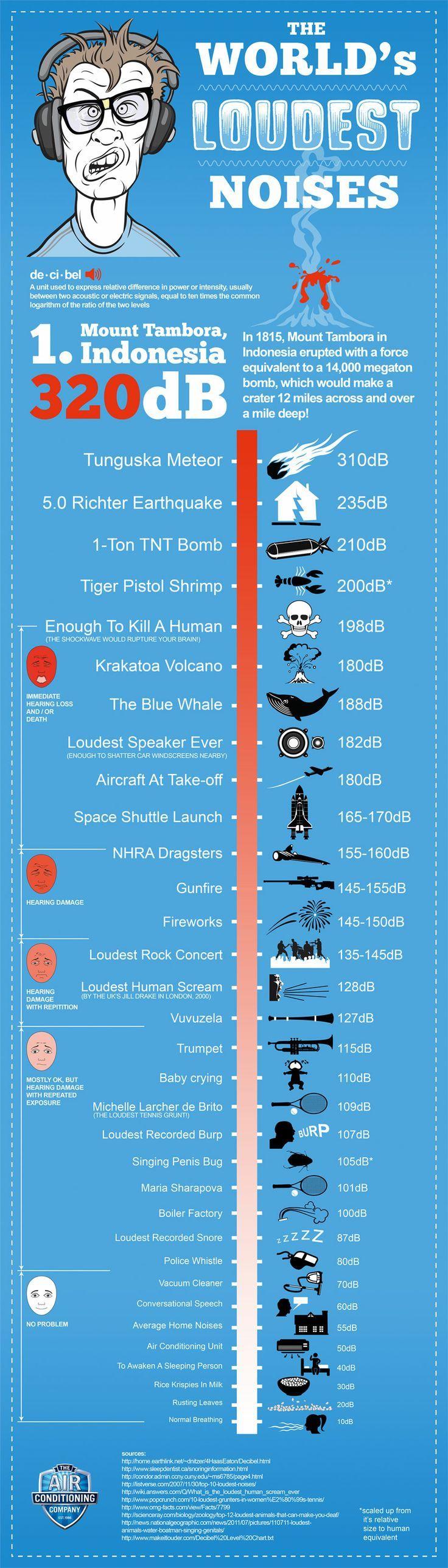 The world's loudest noises
