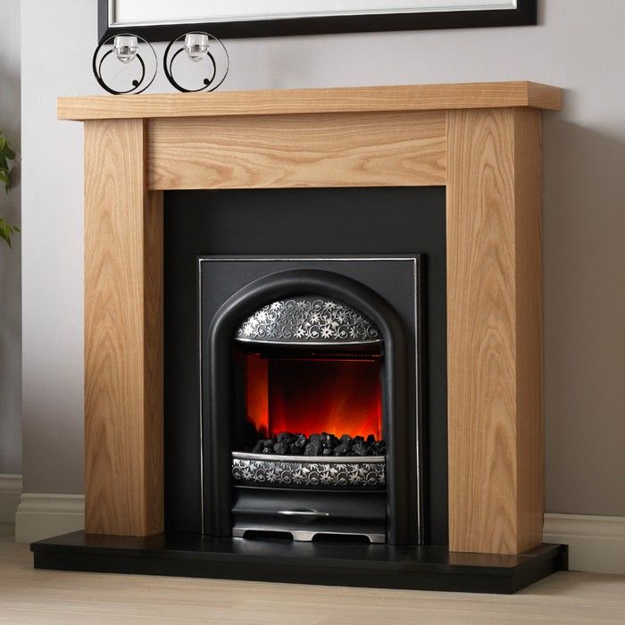 PureGlow Ludlow Oak Electric Fireplace Suite