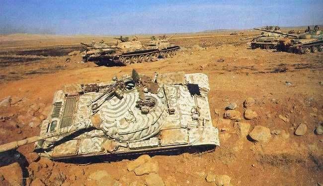 Syrian tanks destroyed, Yom Kippur War.