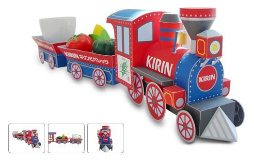 Printable Toys For Tots Train : Colorful train paper model to add into you collection