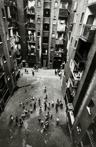 14th September 1966 Tenement blocks in Collinson Street Southwark London