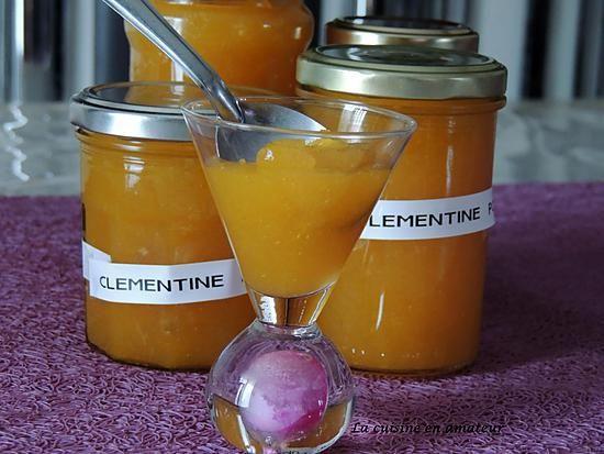 recette Confiture de clémentines et pommes