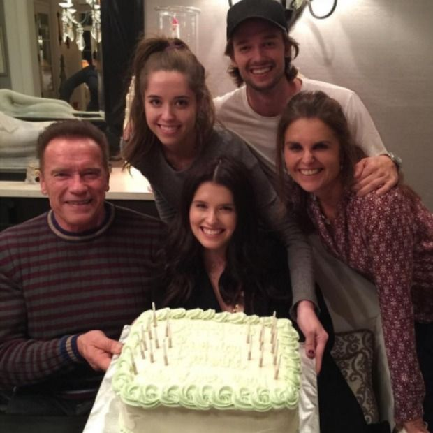 Arnold Schwarzenegger and Maria Shriver help their daughter Katherine celebrate her 27th birthday
