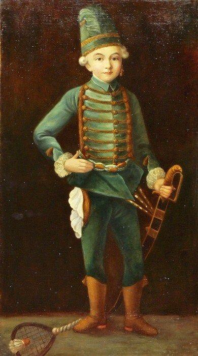 Friedrich August von Kaulbach (1850–1920) Boy with Battledore and Shuttlecock