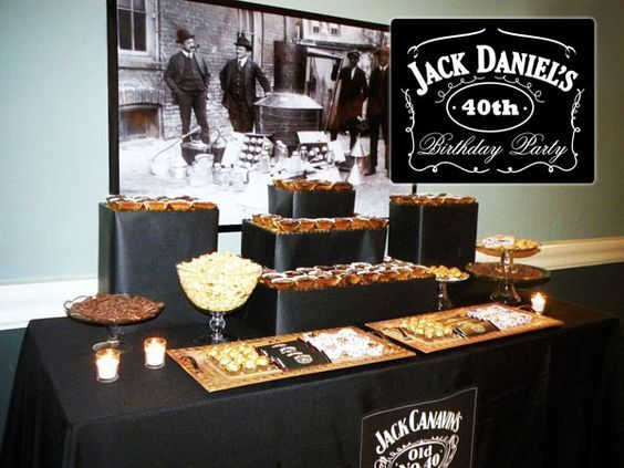 """Perhaps a more sophisticated, classy Jack Daniel's themed party. """"Old No.30"""" Complete with mustache photo booth?! Yes, please! lol"""