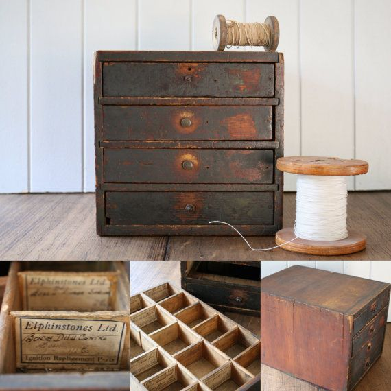 Mechanics Parts Drawers Storage Cabinet Little by FoundByHer