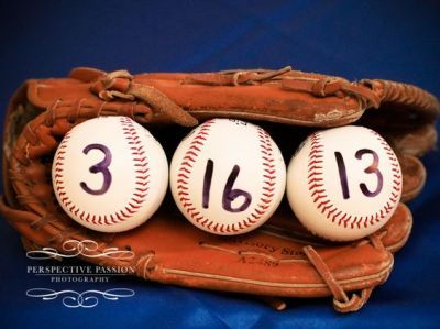 Bridal shower idea for a baseball themed party.  See more bridal shower themes…