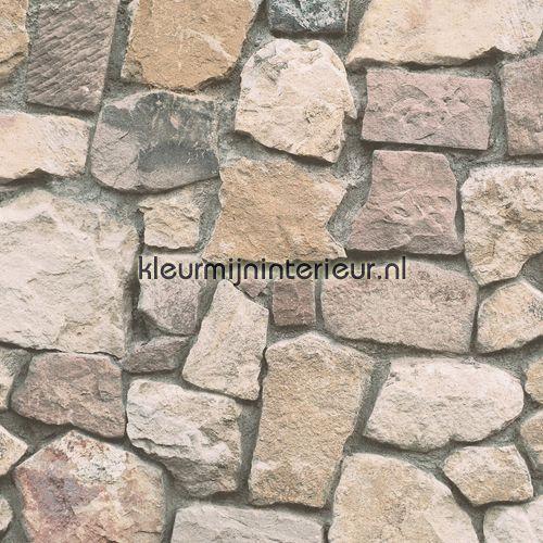 Gestapelde stenen muur 6924-12 | behang Dekora Natur 6 van AS Creation | kleurmijninterieur.nl