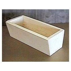24 In Natural Pine Planter box or Window box with a slanted front edge.