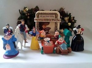 Disney McDonalds Snow White Dwarfs 11PCS Figures 1992 with Victorian Lunch Box
