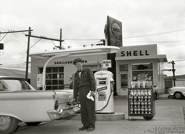 Shell Gas Station.