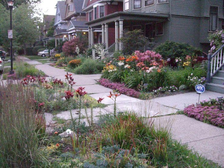 Grassless front yards grasslessyard on pinterest 21 for Grassless garden designs