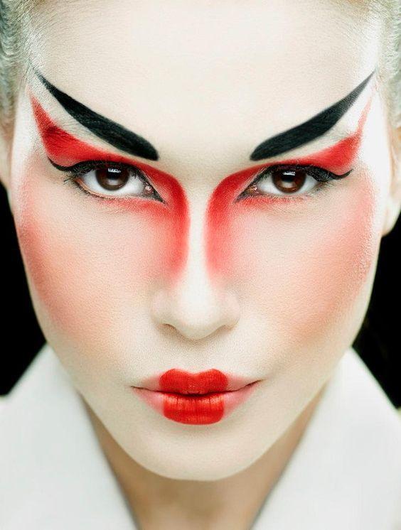 die besten 25 geisha make up ideen auf pinterest geisha cosplay make up und fan bingbing. Black Bedroom Furniture Sets. Home Design Ideas