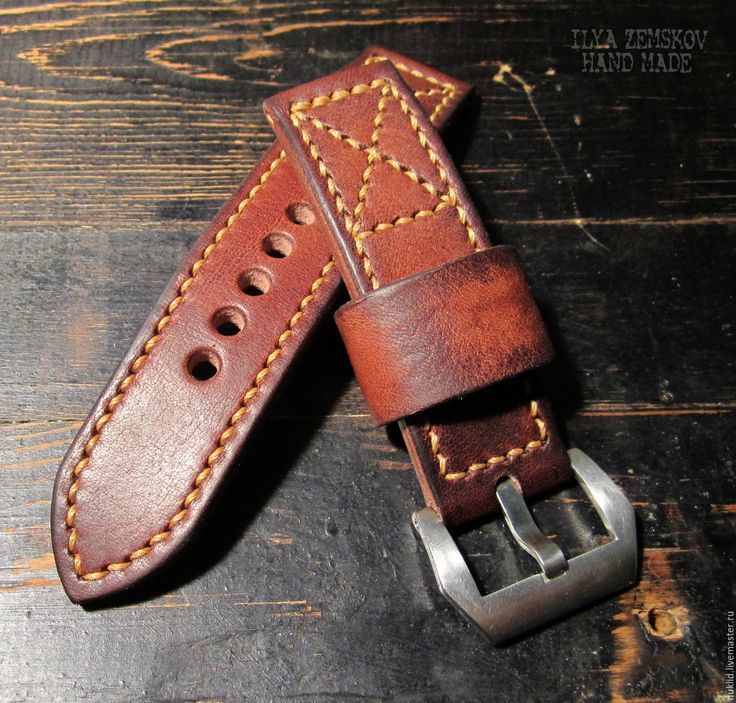 Купить Кожаный ремешок для часов - коричневый, ремешок для часов, ремешок из кожи, кожаный ремешок