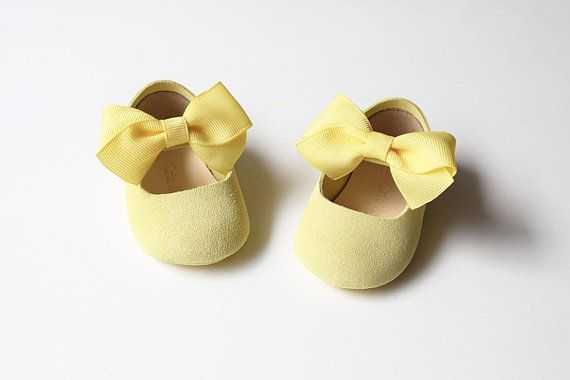 0e3f49673cd3 Pastel Yellow Baby Girl Shoes