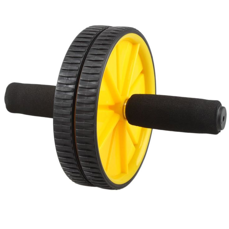 Abdominal Roller Workout Exercise Fitness (Yellow). This kind of Single Wheel Abdominal Core Exerciser Strength Trainer Kit features extra-wide wheel with ergonomic handles. The rhythmic motion of the ab wheel will help strengthen your shoulders, arms and back while helping you develop core muscles. Keep it! You will have a charming body line with it!. Build firmer, stronger abs. Wheel Diameter: 2.95 in / 7.5 cm 2. Handles Length: 10.23 in / 26 cm.