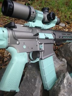 Tiffany blue & gray AR-15. A little more color than I want. https://www.youtube.com/c/yetichaos